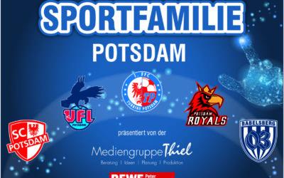 FANSHOP-REGAL der Sportfamilie Potsdam