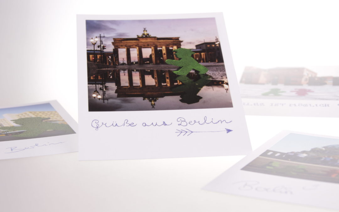 Die Postkarte in Polaroid-Optik