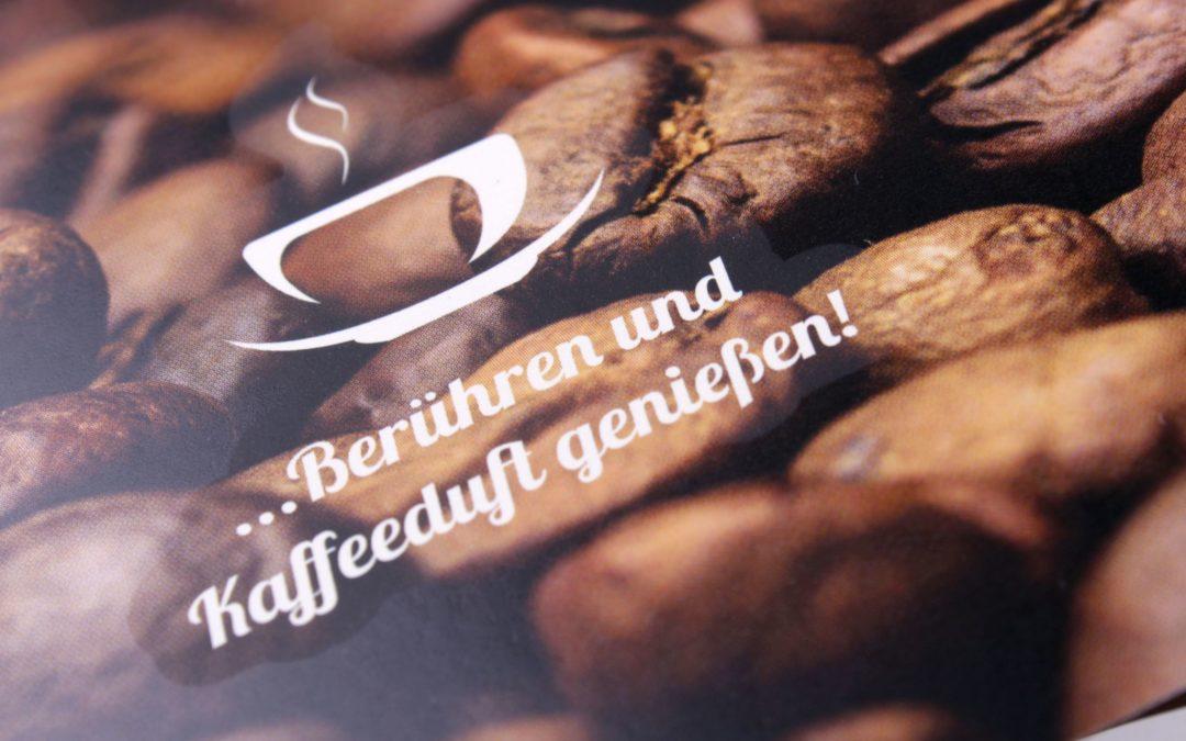 Berühren und Kaffeeduft genießen…