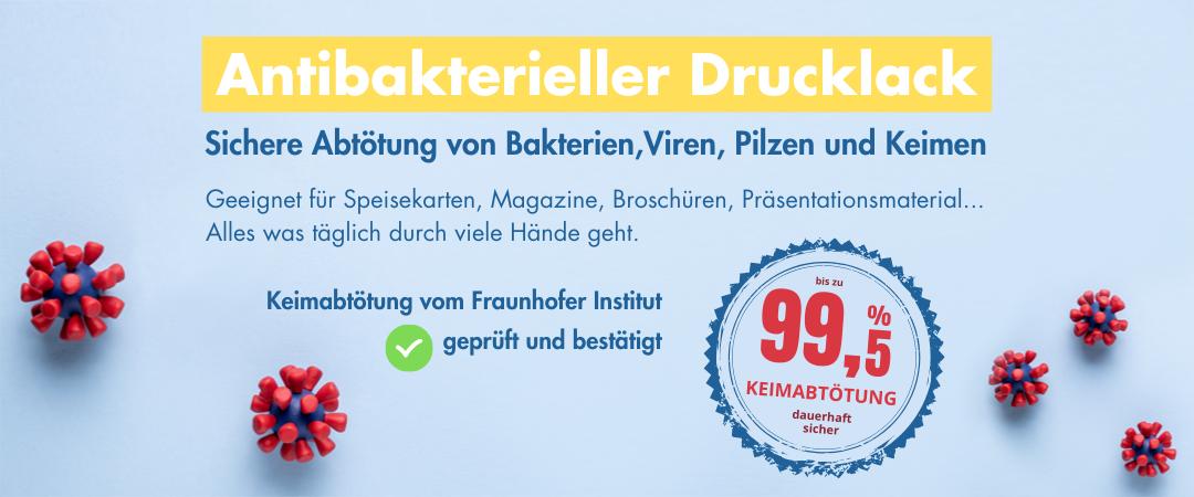 Antibakterieller Drucklack – keimfreie Druckprodukte