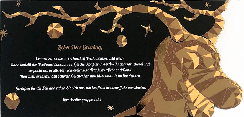 Weihnachtskarte Unikat