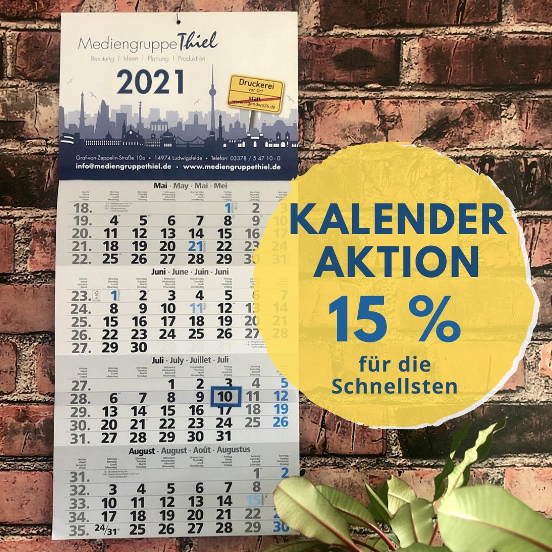 Mit unserer Kalenderaktion bis zu 15% sparen
