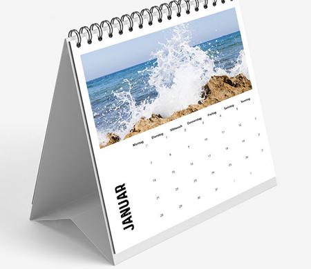 aufstellbarer Tischkalender